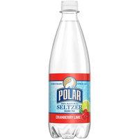 Polar Seltzer Water, Cranberry Lime, 20 Fl Oz, 24 Count