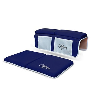 Bath Kneeler and Elbow Rest Bundle | Cushion Protection for Parents During Baby Bath Tub Time with Extra Wide, Non Slip, Thick 1.5 Inch Foam in Navy Blue by California Home Goods