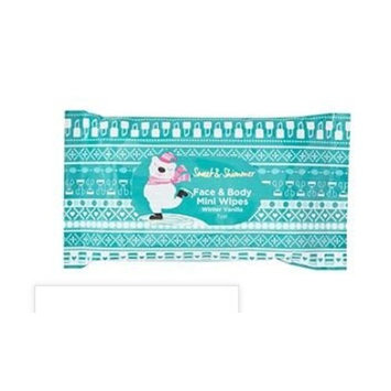 Sweet & Shimmer Face & Body Mini Wipes, Winter Vanilla, 15ct