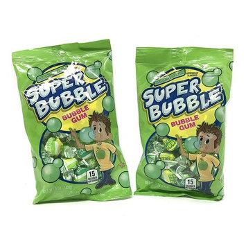 Super Bubble Green Gum, Green Apple Flavor 5 Oz Bag ( Set Of 2 )