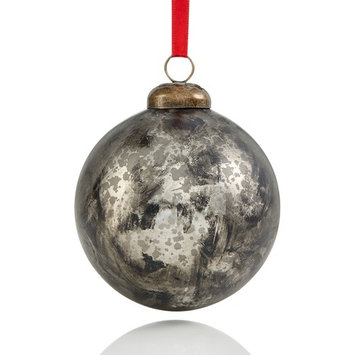 Glass Mercury Silver Ball Ornament with Indian Cap, Created for Macy's