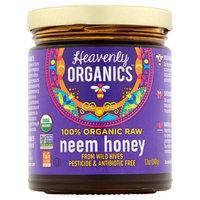 Heavenly Organics 100% Organic Raw Neem Honey from Wild Hives, 12 oz (Pack of 6)