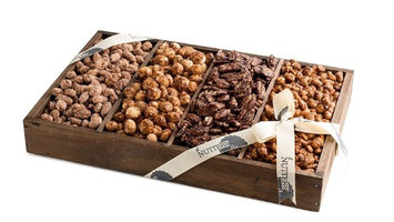 The Nuttery Ny The Nuttery Premium Sweet Glazed Nut Wooden Gift Tray