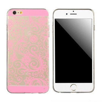 Doinshop New Useful Cute Nice Funny Transparent 0.3mm Soft TPU Back Cover Case For iPhone 6 Plus 5.5 Inch (Pink)