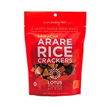 Lotus Foods Gourmet Gluten Free Arare Rice Crackers, Sriracha, 8 Count [Sriracha]