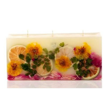 LEMON BLOSSOM LYCHEE Rosy Rings 3-Wick Brick 160 Hour Botanical Scented Candle