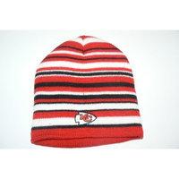 Reebok NFL Kansas City Chiefs Opening Day Knit Striped Beanie Hat Ski Skull Cap Lid Toque