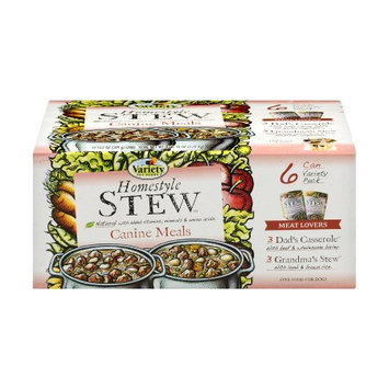 Variety Pet Food VARIETY Homestyle 'STEW' Meat Lovers Natural Dog Food Variety Pack, 13.2 oz Cans, 6pk