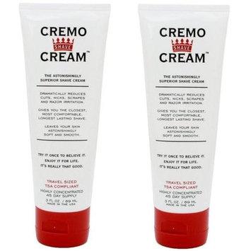 Cremo Original Shave Cream, Astonishingly Superior Shaving Cream for Men, Travel Size 3 Fluid Ounce (2 Pack)