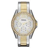 Fossil Riley Two Tone Stainless Steel Bracelet Women's Watch - ES3204