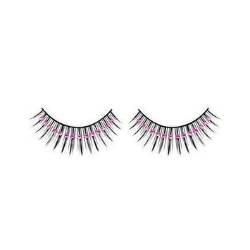 Baci Starlight Edition Style No.510 Glitter Premium Eyelashes, Adhesive Included, Black [510]