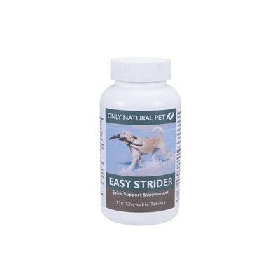 Only Natural Pet Easy Strider Hip Joint Supplement, All Natural Holistic Glucosamine & Turmeric Formula Dogs - Made in USA [Chewable Tablets (Turkey Flavor)]
