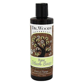 Dr. Woods Products 671417 8 oz Coconut Papaya Black Soap with Shea - 12 per Case