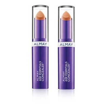 Almay Age Essentials Concealer, 300 Medium (Pack of 2), Conceals Age Spots and Under-Eye Circles For Anti-Aging Effects, SPF 20, 0.13 oz.