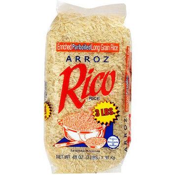 Arroz Rico: White Parboiled Long Grain Rice, 3 Lb