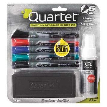 Quartet(R) EnduraGlide(R) Dry-Erase Markers, Kit, Fine, Assorted Colors, Pack Of 5