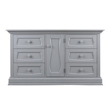 Trifecta Industries Eco Chic Baby Dorchester 6 Drawer Double Dresser - Gray