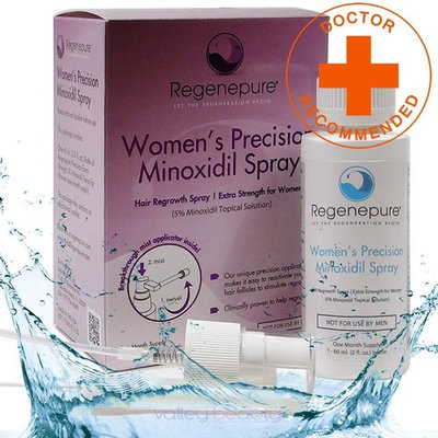 REGENEPURE - Women's Precision Minoxidil Spray, Contains 5% Minoxidil to Support Hair Regrowth, 2 Ounces
