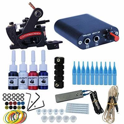Tatooine Tattoo Kit for Beginners Tattoo Power Supply Kit 6pcsTattoo Ink 10 Tattoo Needles 1 Pro Tattoo Machine Guns Kit Tattoo Supplies