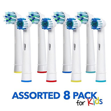 Generic Oral B Braun Replacement Brush Heads – 8 Pack Assorted Toothbrush Heads – Easy Cleaning For Kids And Adults - Electric Toothbrush Replacement