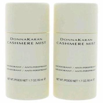 Cashmere Mist by Donna Karan, 2 x 1.7 oz Deodorant Anti-Perspirant Stick for Women