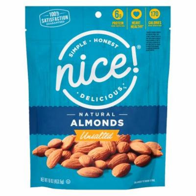 Nice! Natural Almonds Unsalted16.0 oz.(pack of 1)
