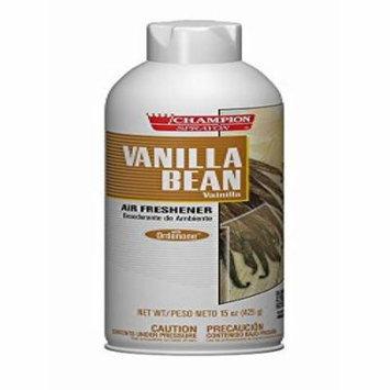Champion 5174 Water-Based Air Freshener, Vanilla Bean, 15 oz Aerosol (Pack of 12)