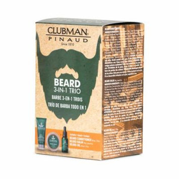 (6 Pack) CLUBMAN Beard 3 in 1 Trio - Beard Balm, Oil and 2 in 1 Conditioner