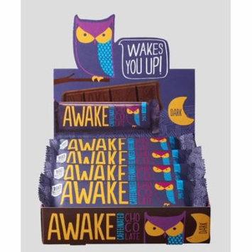 AWAKE Dark Chocolate Caffeinated Candy Bar, 1.55 Oz, 12 Ct