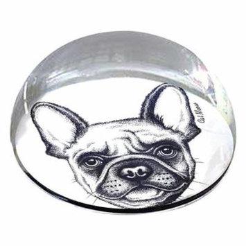 forever crystal dog outline pet memorial magnet