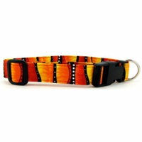 Red Hot Stripes Dog Collar - Size - X-Large