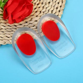 Yosoo Silicone Gel Insoles Height Increase Foot Orthotic Arch Support Heel Pads Red, Women Insoles, Height Elevator Insoles