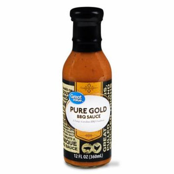 Great Value Pure Gold BBQ Sauce, 12 fl oz