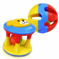 2pcs Baby Rattle Toys Handbells Shake Grab Rattle Rolling Ball Educational Toy for Infant Newborn Toddler (Colorful)