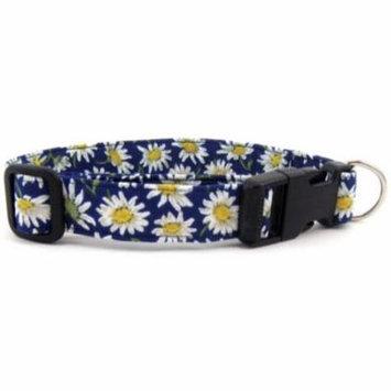Blue Daisies Dog Collar - Size - Mini