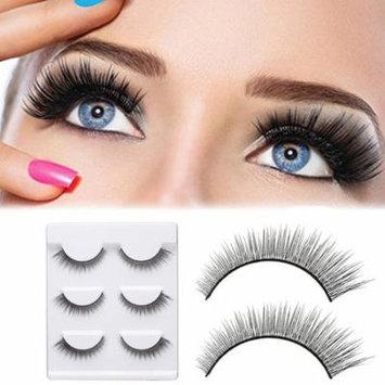 Girl12Queen 3 Pairs Natural Curly Long Fiber False Eyelashes Extension Women Makeup Tool