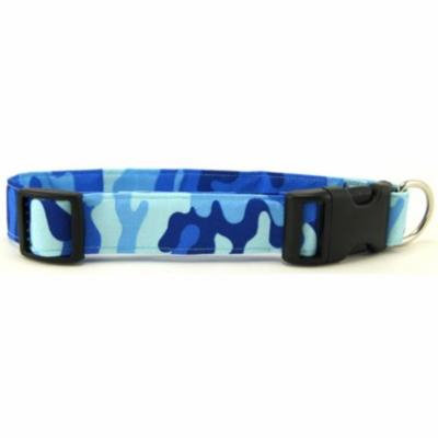 Blue Camo Dog Collar - Size - Medium