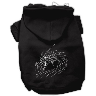 Mirage Pet Products 5426 XXXLBK Studded Dragon Hoodies Black XXXL 20