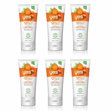 Yes To Carrots Normal To Dry Skin, Moisturizing Hand Cream, 3 Oz (Pack of 6) + FREE Eyebrow Trimmer