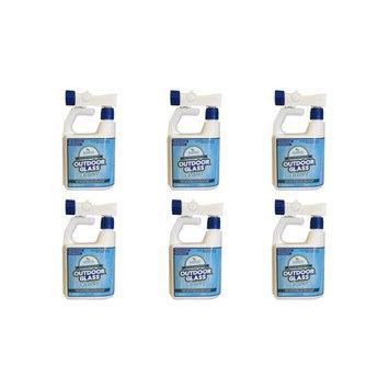 Wash Safe Industries Outdoor Window GLASS Cleaner, Hose End Bottle, 32 oz. Spray Jug, (Pack of 6)