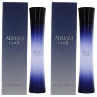 Giorgio Armani Code Eau de Parfum Spray Women, 2.5 oz (PACK 2)