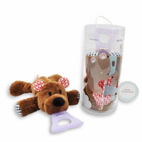 Nissi & Jireh 4 In 1 Pacifier holder plush toy Teether, Bear