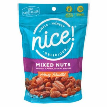Nice! Mixed Nuts Honey Roasted10.5 oz.(pack of 1)