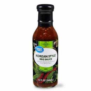 Great Value Korean Style BBQ Sauce, 12 fl oz