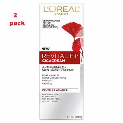 2 pack -L'Oreal Paris Revitalift Cicacream Anti-Wrinkle + Skin Barrier Repair