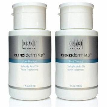 Obagi Clenziderm MD Pore Therapy Salicylic Acid 2% Acne Treatment 5 oz - 2 PACK