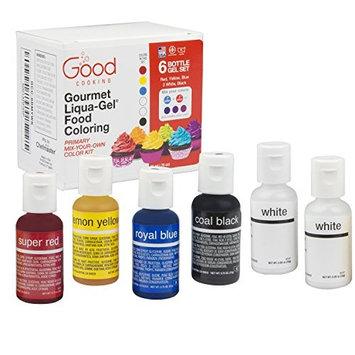 Food Coloring Liqua-Gel - 6 Bottle Mix-Your-Own Color Kit in .75 fl. oz. (20ml) Bottles