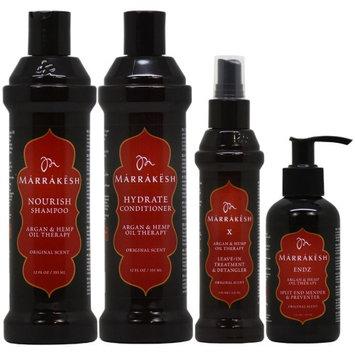 Marrakesh Shampoo + Conditioner + X Leave In Treatment (Original) + Endz 'Set' (Pack of 4)