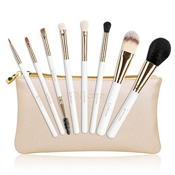 DUcare Makeup Brushes Set, 8 Piece Foundation Blush Kabuki Brush Blending Contouring Face Eye Eyeshadow Golden Makeup Brushes