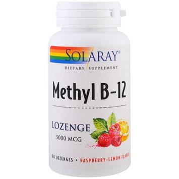 Solaray, Methyl B-12, Raspberry-Lemon Flavor, 5000 mcg, 60 Lozenges [Flavor : RaspberryLemon]